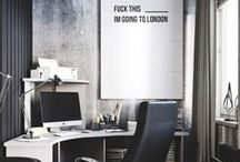 Workspaces / home office workspace organization, creative spaces, ideas, inspirations, small spaces, design, artist desk. Chic, Minimalist, artist, shared, collaborative work spaces.