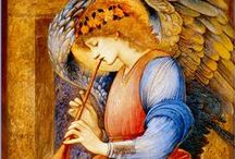 Art of Edward Burne-Jones ✿⊱╮(1833-1898) / Sir Edward Coley Burne-Jones,1st Baronet,A.R.A. 1833–1898 was a British artist and designer closely associated with the later phase of the Pre-Raphaelite movement,who worked closely with William Morris on a wide range of decorative Arts as a founding partner in Morris,Marshall,Faulkner,and Company.In addition to painting and stained glass,Burne-Jones worked in a variety of crafts;including designing ceramic tiles,jewellery,tapestries,mosaics and book illustr., most famously designing woodcuts.. / by Andrea A. Elisabeth ✿⊱╮VoyageVisuelle