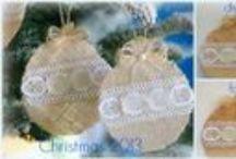 burlap lace christmas ornaments