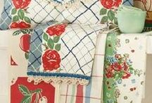 Vintage and Vintage Style Linens / Vintage linens are cheery additions to the home, which add a charming and nostalgic feeling.