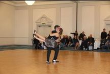 "Swing / The term ""swing dancing"" is used to refer to one, or all, of the following swing era dances: Lindy Hop, Charleston, Shag, and Balboa. This group is often extended to include West Coast Swing, East Coast Swing, Jive, and other dances developed in the 1940s and later."