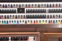 Nail polish storage super size / Just a few of our super sized nail polish displays some are 2 metres wide