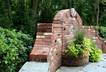 Brick Wall Water Feature Backyard by Main Street