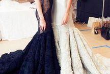 Fashion - BLACK WHITE OFF-WHITE 2 / #Couture #Runway #Designer #Formal #Elegant #Red Carpet #Chic #Haute #Avant Gard #RTW #collection #black #white #off-white  / by V EIRRAB