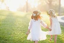 Flower Girls and Ring Bearers / Browse ideas for the kids in your wedding party! Flower girl inspiration, flower girl dresses, baskets and gifts. Ring pillows, ring bearer signs, bow ties, ties and more.
