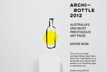 Archi-bottle Prize 2012 / This is a search for Australia's most talented artists to create bottle art for our November wine release and join previous collaborators Mark Whalen, Hollie Martin, Kevin Tran and Beci Orpin. Head over to the Archi-bottle tab or cakewines.com, download the info pack and enter.