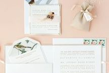 Wedding Invitations / Signed, sealed, delivered! Wedding stationery, invitations, save the dates, thank you cards and postage. We sure do love letterpress, calligraphy, foil stamping and thermography!