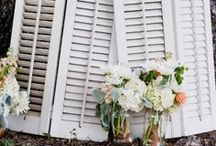 Wedding Decor / Wedding decor and wedding signage for your big day. Browse tissue paper garland, paper poms, chalkboard signs, vintage doors and windows, mason jars, books and lanterns to make your wedding really stand out!