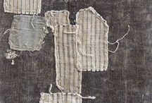 Textiles and Threads / Make Do and Mend certainly comes to mind a lot here.  Seeing the time worn examples of hands on hands - weaving, dying, patching, loving, wearing, using, is ever-remarkable. Here are some drool-worthy examples.