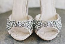 """WEDDING SHOES / Finding the right pair of shoes for your wedding can be as hard as finding the perfect dress. I think it's nice to find a pair you know you'll wear again, thinking """"these guys walked me down the aisle"""".  / by Charlotte Hosten"""