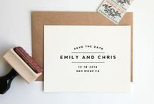 WEDDING STATIONARY / by Charlotte Hosten