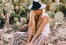 SS16 Trend: Desert Rose / The Arizona sun wont burn this boho babe who stays gorgeous in soft prints and vintage vibes x