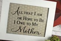 Mother's Day [Projects + Tutorials - Silhouette Cameo & Cricut] / Silhouette Cameo, Curio, and Cricut projects, ideas, and tutorials for making handmade gifts for Mother's Day.