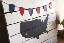 4th of July & Patriotic [Projects + Tutorials - Silhouette Cameo & Cricut] / Inspiration for crafting patriotic projects - great for July 4th, Memorial Day, and Labor Day.