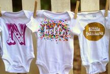Baby [Projects + Tutorials - Silhouette Cameo & Cricut] / New baby onesie and gift ideas for your Silhouette Cameo.