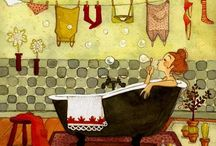 bathroom illustrations
