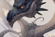 Dragons / Big and fabulous lizards, should they keep treasures, inspire wisdom or spread disaster through the land.