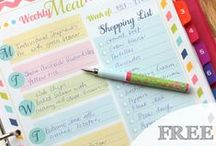 Planners and Printables / It's always good to stay organized- that's why I pin these planners and printables.