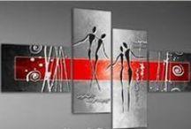 Pintura abstracta / Pintura al oleo, abstracta