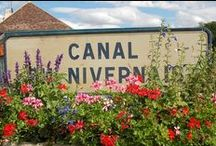 Nivernais Canal Burgundy / Unspoilt, varied and a step back in time on this beautiful waterway.  The canal sections inter-weave with the River Yonne.  Views, swimming tranquility.