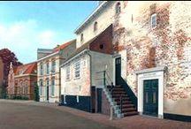 Village and town - painted by Bert Heemskerk