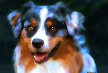 Digital Paintings of Dogs / Digital Paintings created with Corel Painter 11.