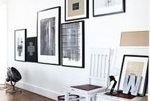 art / gallery wall / Scandinavian deco, Scandinavian interior with modern classics.