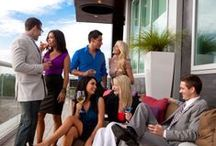 Level 8 Lounge / With both open-air and glass-enclosed elements, Level 8 Rooftop Lounge uniquely combines chic, sexy, and seductive with upscale sophistication. Come up to our Level 8 Lounge to enjoy daily specials! / by Hotel Duval Tallahassee