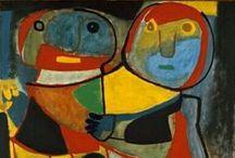 Karel Appel Art / Bold expressive paintings and drawings by the famous Dutch painter Karel Appel.