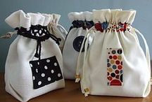 drawstring bag and basket