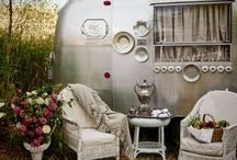 Glamping ChicTiques Style / My inner gypsy loves the Glamping Style (glamorous camping) & peeking into the chic caravans - tin cans - trailers.