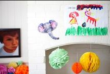 Tissue Paper Party Decorations for Boys / Party decorations and boy bedroom bliss!