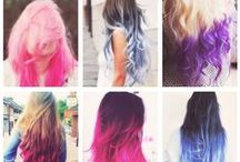 Hair / someday I will dye my hair a very exciting colour...