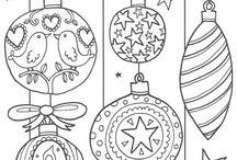Joulu värityskuvia