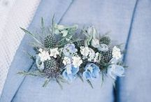 Blue Wedding Colour Palette / Blue wedding ideas and inspiration for your Big Day
