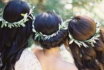 Floral Crown / Wedding planning ideas and inspiration ~ Floral crowns