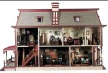 Doll Houses, Doll Furniture, Doll Rooms / Inspiration for collectors looking the perfect way to set their antique doll houses and rooms.