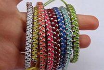 Knots, Tricotin, Jewelry, DIY ... / Inspiration