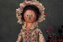 Early Wooden Dolls / Stunning examples of 18th century antique dolls. Highly innovative construction that paved the way for future doll makers.