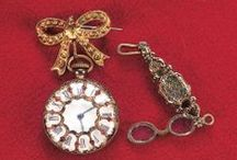 Miniature Doll-Size Time Pieces / Stunning examples of antique miniature time pieces in many forms shapes and sizes.
