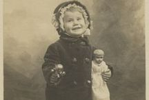 Children and Their Dolls / Antique and vintage images of young children with their favorite playthings.