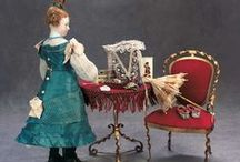 A Doll and Her Trousseau / French fashion dolls and others with marvelous trousseaux and elegant accessories.