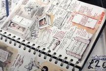 journals / bullet journals; art journals; handwriting; doodles