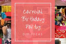 Carnival Birthday Party / Raya and Kora's birthday party -- a Carnival Corral. Inspiration for the event, DIY projects, all things carnival for kids and pics from the big day