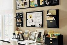 Home Office / WAHM inspiration for organization and productivity -- working at home as a mom