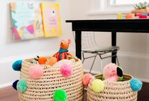 Playroom / Playroom temptations! There are always new ways to organize toys and art supplies beautifully! Every space could use a makeover and the playroom is no exception.