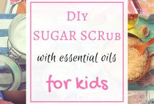 DIY with essential oils / Using my essential oils around the house in functional ways -- even with my kids! From scrubs, to bath bombs and salts, play dough and slime!