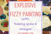 Creative Science Experiments for Kids / From Baking soda and vinegar reactions, to slime, exploding art and much more, this is the board where science, art and kids meet.