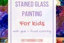 Preschool Art Class / A condensed list of lesson plan ideas for preschool art education. Lots of printmaking and resist projects here. Fine art for kids that builds confidence and creativity!
