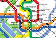 Metro plattegronden / Metro plattegronden